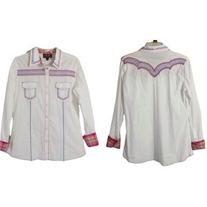 Cowgirl UP Western Snap Front Embroidered Shirt